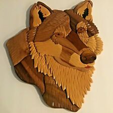 Wolf Wooden Wall Hanging Rustic Collectable