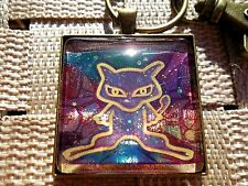 Pokemon Trading Card Pendant Keychain Necklace custom cosplay go ancient mew