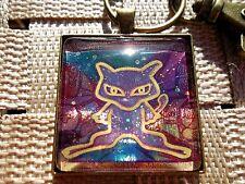Pokemon Trading Card Pendant Keychain Necklace custom cosplay go ancient mew