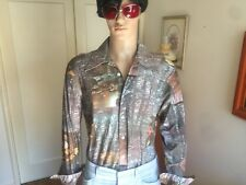 Mens 1970's Vintage Disco Shirt L
