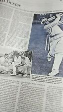 New listing UK Times Obituary. TED DEXTER. England cricket captain. 27.8.21