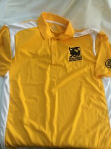 Shelby Official Terlingua Racing Team Yellow Polo Size Large NEW