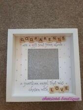 Beautiful Personalised Scrabble Godparent/Godmother Etc Frame Gift