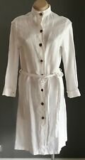 NWOT Unworn White Cotton/Silk Shirt Dress - Made in Italy Size 8-10