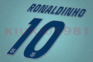 Barcelona Ronaldinho #10 2004-2006 Awaykit Nameset Printing