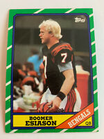 BOOMER ESIASON 1986 Topps Rookie #255 Cincinnati Bengals Maryland RC