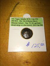 Ancient Greek Owl Coin 370 B.C.E - 350 B.C.E.