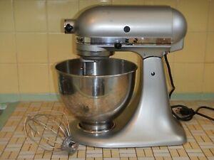 KitchenAid 4.5-Quart Tilt-Head Stand Mixer KSM85PBOB SILVER CHROME