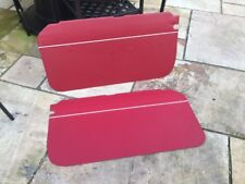 Mgb roadster red with white   piping door cards 1962-1965 PULL HANDLE CARS