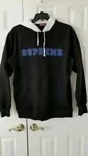 Supreme Hoodie 100% Authentic Two Tone Black White Size XL