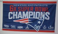New England Patriots 6x SUPER BOWL 53 CHAMPIONS FLAG 3x5ft  LIII US Shipper