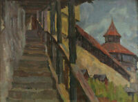 Ferdinand Dörr 1880 - 1968 - Wehrgang zur Burg in Esslingen Neckar