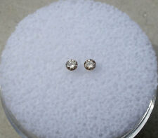 Champagne diamond loose faceted round natural pair 2mm each