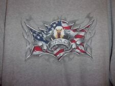 V Twin Motor pissed off Eagle USA gray XL t shirt