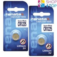 2 RENATA CR1225 LITHIUM BATTERIES 3V CELL COIN BUTTON BR1225 SWISS EXP 2025 NEW