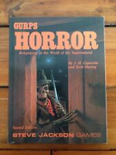 1990 First Printing GURPS Horror Role Playing Steve Jackson Fantasy RPG Book