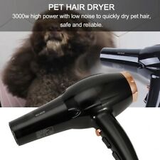 3000W Portable Pet Hair Dryer Quick Blower Heater For DogS Cats Grooming Black
