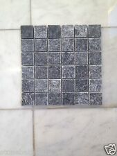 Taurus Black Marble Tumbled Backsplash Tile Wall Bathroom Kitchen Patio Mosaic