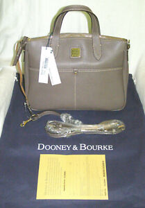 DOONEY & BOURKE 1975 TAUPE 'DANIELA' TEXTURED LEATHER SATCHEL BAG - NEW w/TAGS