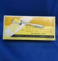 Vintage The Corn Butterer Set Of Four In Original Box