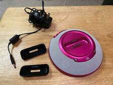 JBL On Stage Hot Pink Micro II Speaker System for iPod w/ AC Adapter & 2 Inserts