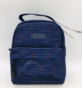 Blue Thermos Insulated Lunch Bag Tote IsoTec Premium Layered Insulation PVC Free