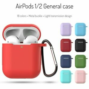 Case For Apple AirPods 1 2 Silicone Shockproof Skin Earphones Cover Charger Case
