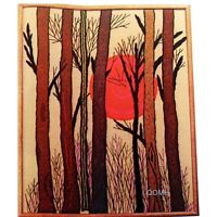 SUNSET Vtg Crewel Kit Mid Century Contemporary Picture or Wall Panel Bucilla
