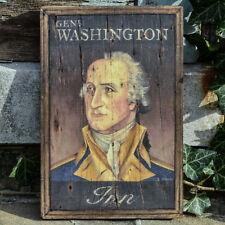 "Medium Repro-Original Art - Trade Sign ""General Washington Inn"" On Wood"
