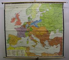 Wandkarte Europakarte Deutscher Bund 1815-1870 203x187cm ~1975 vintage wall map