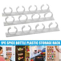 3pcs Kitchen Spice Gripper Clip Strip 20 Jar Rack Wall-Mount Storage Holder Rack