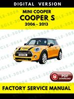 Mini Cooper S 2006-2013 Factory Service Repair Workshop Manual