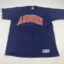 Vintage 90's Russell Athletic Auburn Tigers University College Blue T Shirt Mens