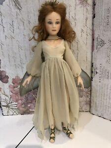 "R.John Wright Rosella UFDC Felt Doll Fairy 13.5"" Secret Garden Of Dreams"
