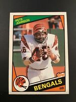 1984 Topps #42 PETE JOHNSON Cincinnati Bengals Set Break NM-MINT