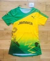 Puma pro Elite Jamaica Damen 2012 London Olympisches Wettbewerbe Hemd GRÖSSE S
