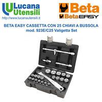 """BETA VALIGETTA SET KIT model 923E/C25 con 25 BUSSOLE 1/2"""" CRICCHETTO e ACCESSORI"""
