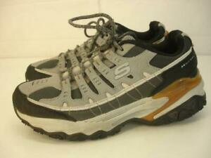 Men's 8.5 M Skechers 51968 Energy After Burn M. Fit Max Shoes Sneakers Gray Work