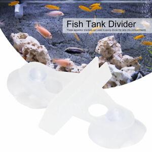 40PCS Aquarium Divider Isolation Plate Fish Tank Divider Filter Suction Cup