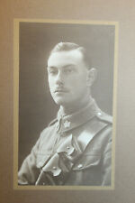 Original Ww1 Canadian Army Officer's Studio Photograph on Hard Card Backing