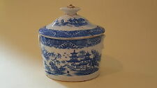Caughley Coalport blue vintage pre Victorian antique pearlware sucrier bowl
