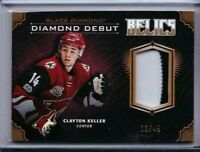 2017-18 UD BLACK DIAMOND DEBUT RELICS CLAYTON KELLER JERSEY PATCH /49 COYOTES PD