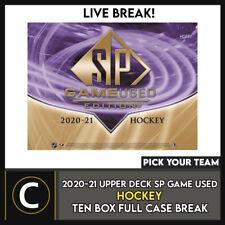 2020-21 UPPER DECK SP б/у игры хоккей 10 коробка футляр разрыва #H1180 — выбирайте свою команду