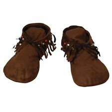 WOMEN SIZE #HIPPY/INDIAN MOCCASINS SHOES FANCY DRESS PARTY COSTUME ACCESSORY