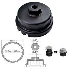 BLK 64mm 14 Flutes Aluminum Housing Oil Filter Wrench for Toyota Lexus Fast Ship