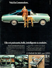PUBLICITE ADVERTISING  016  1967  OPEL la Commodre berline & coupé