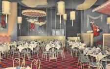 MARDI GRAS Oakland, California Restaurant Interior c1940s Vintage Linen Postcard
