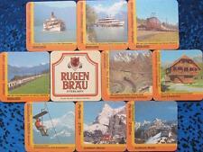 Bierdeckel Serie Sammlung - Schweiz - Rugenbräu Interlaken - 9 verschiedene