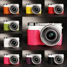 Genuine Real Leather Half Camera Case bag Cover for Samsung NX3000 8 colors