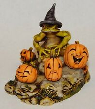 Harmony Kingdom Art Neil Eyre Designs halloween witch hat frog pumpkin patch